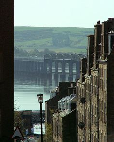 The Tay rail bridge seen from Dundee's Perth Road, looking down Step Row