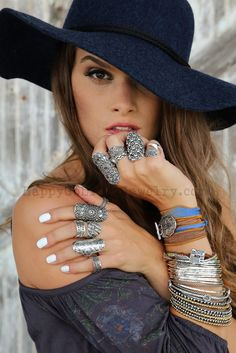 Bohemian Chic Handmade Ring, Sterling Silver Boho Jewelry by HappyGoLicky. SAVE 10% with coupon code PIN10. Just CLICK.