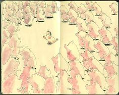 Moleksine sketchbooks by Mattias Adolfsson, via Behance - Art Journal