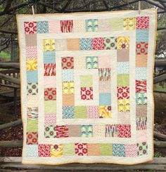 Two Little Banshees: Cot Quilts Do rectangles (double squares) instead