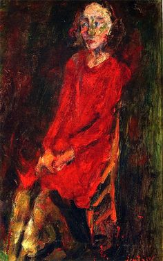 Young Woman in Red , Chaim Soutine - circa 1929