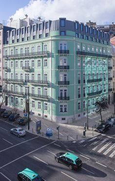 Holiday Inn Express Lisbon - Av. Liberdade, Rua Alexandre Herculano 40, Lisboa, Portugal by Saraiva+Associados #hotel #holidayinn #renovation #lisbon #portugal #oldbuilding #reabilitacao #saraivaeassociados #lisboa #edificioantigo #avenidaliberdade #alexandreherculano