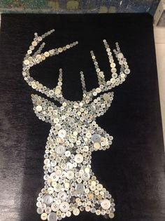button deer on canvas - Google Search