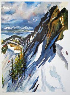 Mountain Mural, Bob Ross, Bliss, Artists, Landscape, Painting, Artist, Scenery, Painting Art