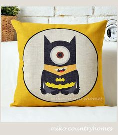 Despicable Me Minions Superheroes | Batman | Throw Pillow Cover