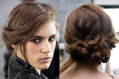 gorgeous twisted and braided updo that Gilbert created at Suno. It's a bit romantic, but still rough