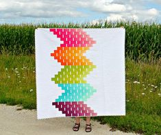 Ombre Love   A Finished Quilt by canoeridgecreations on Flickr.