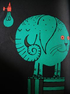 The Smallest Elephant in the World written by Alvin Tresselt Illustration by Milton Glaser.