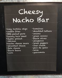 Nacho Bar Activity & Party Planning Inspiration for All Ages!A game day party just wouldn't be the same without nachos! How do you take your nachos? Nacho Bar Party, Taco Bar, Diner Party, Chili Nachos, Apple Nachos, Dessert Nachos, Party Food Bars, Party Desserts, Bar Food