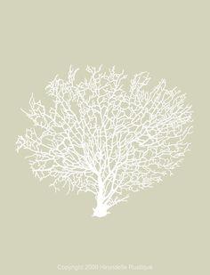 Beach House - Coral Print