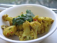 Aloo Gobi-- a bit of an advanced recipe for me, but a good thing to try.