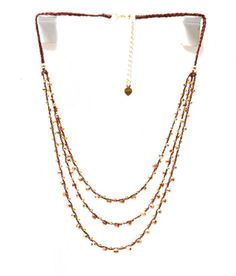 Three Layered Necklace-Gold/Copper - Nakamol Chicago