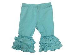 Adorable Essential's Triple Ruffle Capris - 2, 4, 6   Our Triple Ruffle Capris are a true essential for matching boutique dresses and tops. Available in a large variety of colors, these bottoms are sure to pair well with any top your little girl may want to wear.  Please check measurements. All sales are final. No returns or exchanges. Free Shipping on ALL U.S. Orders,  ORDER Here ---- https://goo.gl/PWA3in SHOP All Products ----http://adorableessentials.com   Free Shipping on All US Orders!