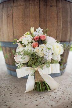 Vintage Elegance meets Rustic Chic #wedding bouquet ~ Barefeet Photography   bellethemagazine.com