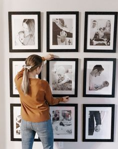 One of the most common things that I receive compliments about in our home is my gallery wall! I love that it showcases some of my favorite family photos while still being an intentional part of the design. Hallway Pictures, Family Pictures On Wall, Family Wall, Family Room, Family Photos, Home Room Design, Interior Design Living Room, Modern Farmhouse Gallery Wall, Home Decor Bedroom