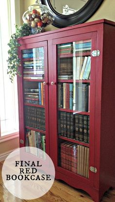 17 Red Hot Painted Furniture Ideas Gl Bookcase Bookcases