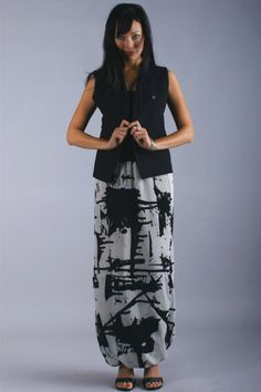 Wearable art Moroccan Skirt by Kiss of the Wolf. More lovely hand painted silk!
