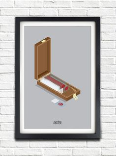 Dexter - Blood box - 17x11 Poster. Hah, if it was appropriate to give this to my daughter, she would LOVE it. We're Dexter fans :)