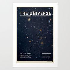 The Universe Art Print by Mike Gottschalk | Society6