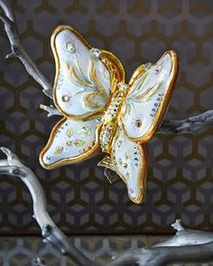 Floral+Butterfly+Christmas+Ornament+by+Jay+Strongwater+at+Horchow.