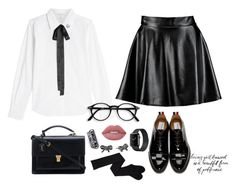 """""""My Geek Side"""" by vero-mrsb ❤ liked on Polyvore featuring Marc Jacobs, Yves Saint Laurent, Boohoo, Thom Browne and Lime Crime"""