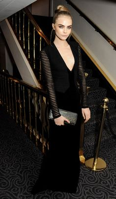 Cara Delevingne at the Evening Standard Theatre Awards