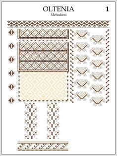 Semne Cusute: ie din OLTENIA, Mehedinti Embroidery Patterns, Cross Stitch Patterns, Knitting Patterns, Folk Art, Projects To Try, Quilts, Sewing, Moldova, Handmade