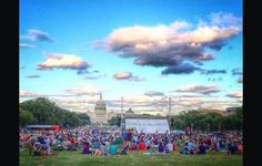 Plan to watch free movies on the National Mall during the summer months in Washington, DC. A local favorite!