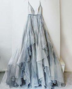 2017 Custom Made Silver Grey Prom Dress, Spaghetti Straps Evening Dress,Chiffon Party Gown,V-Neck Pegeant Dress, High Quality