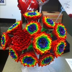 Duct tape bouquet!