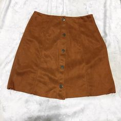 eb84ae75a 13 Brown Skirts, Brown Suede, American Apparel, Casual Shorts, High Waisted  Skirt. Depop