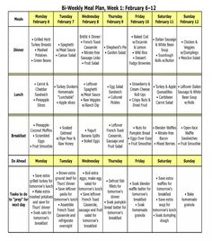 "Real food and meal planning. I love how this chart includes a ""To Do"" section at the bottom of the page - so you can track tasks and prep work. That's where most people get held up with meal planning -- they need room to go beyond just the list of food and into the process of making it. - Meredith"