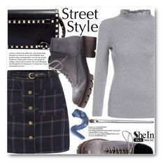"""Street Style"" by pokadoll ❤ liked on Polyvore featuring мода, CENA, Valentino, Sheinside и shein"