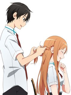 Kirito - A...Asuna I don't think that I could do this...braid thingy for you...