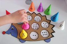 Montessori Activities, Toddler Activities, Preschool Activities, Activity Games, Math Games, Paper Crafts For Kids, Art For Kids, Kindergarten, Ideas