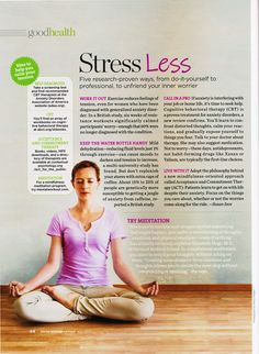 Five research-proven ways to unfriend your inner worrier [Good Housekeeping May 2012]