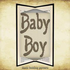 Book folding pattern Baby Boy for 256 folds - ID0667445