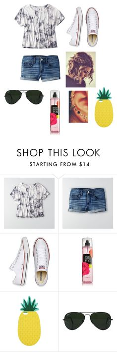"""""""shopping"""" by mallory-d ❤ liked on Polyvore featuring American Eagle Outfitters, Converse, Miss Selfridge and Ray-Ban"""