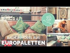 Inspirational Balkonm bel aus Paletten selber bauen Balkon DIY Upcycling How to Balkonm bel