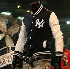 new 2013 Free shipping men's casual Classic retro alphabet fashion sports baseball hoody jacket uniform baseball coat jacket men US $29.80