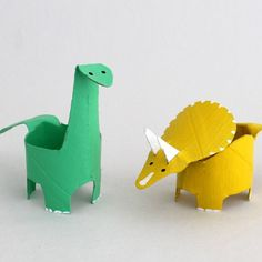 Create cute mini dinosaurs from toilet rolls. These are easier than they look!