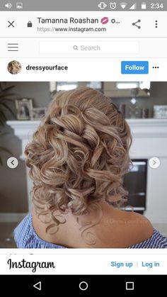 Romantic Wedding Hair, Wedding Hair And Makeup, Bridal Hair, Hair Makeup, Quince Hairstyles, Fancy Hairstyles, Summer Wedding Hairstyles, Medium Hair Styles, Long Hair Styles