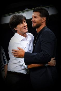Joachim Low with Michael Ballack, World Cup 2010