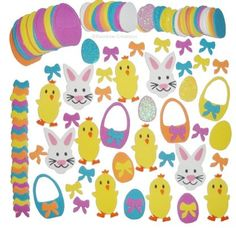 Rainbow Creations Easter Foam Stickers