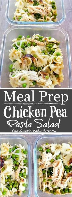 Chicken Pea Pasta Salad is part of Chicken meal prep - This chicken pea pasta salad can be enjoyed warm or cold and served for dinner or lunch With only 3 main ingredients it's easy to make and super healthy Chicken Meal Prep, Chicken Recipes, Chicken Peas Pasta, Salad Chicken, Chicken Rub, Lemon Chicken, Rotisserie Chicken, Meal Prep Bowls, Meal Prep Salads