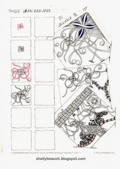 Mak-Rah-Mee ~ Zentangle tangle by CZT Shelly Beauch
