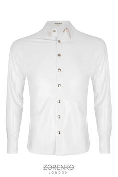 Men's Latex Formal Shirt by ZorenkoLondon