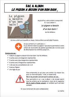 The Pigeon needs a bath card game in French Mo Willems, Album, French Language, C'est Bon, Jouer, Pigeon, Card Games, Teaching, Writing