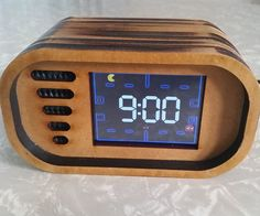 Build an interactive Pac-Man bedside clock, with a touch screen, and animated Pac-Man figures.This cool project is surprisingly simple to make and is a great gift for those nostalgic Pac-Man addicts.As well as being able to interact with the Pac-Man game, you can record a sound of your choice for the alarm.