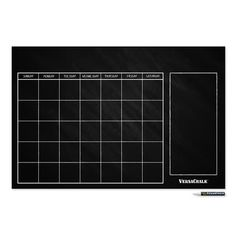 This large chalkboard monthly wall calendar gives lots of room for self-expression. The simple design and large calendar spaces let you put down everything you need to remember to keep your family schedule straight. Use indoors or outdoors. Shop online for chalkboard wall calendars from VersaChalk. Chalkboard Wall Calendars, Chalkboard Stickers, Large Chalkboard, Vintage Chalkboard, Calendar Wall, Weekly Calendar, Calendar Ideas, Chalkboard Wall Bedroom, Family Schedule